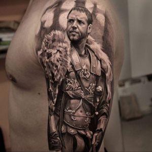 #Blackngrey #blackandgrey #AuForman @au.forman #AnastasiaForman #gladiator #russellcrowe #tattooinrussia #welove