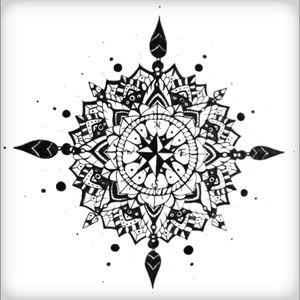 Compass mandala freehand sketch #mandala #symmetry #freehand #ink #pen #flower #buddhist #mandalasketch #sketch #compasstattoo #compass