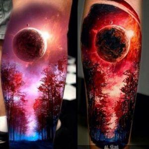 #tattoo #reallybeautiful #moon #realistic #great 👍🏻👌🏻