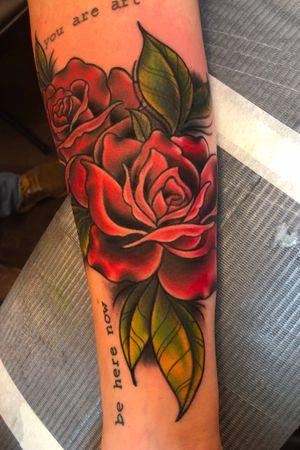 🌹🌹🌹 #rose #roses #rosetattoo #flower #flowertattoo #floral #floraltattoo #colortattoo #armtattoo #nashville #nashvilletattoo #tattoooftheday