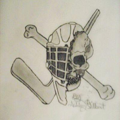 #Goalie #skull #hockey