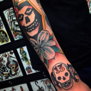 #misfits #skull #traditional all tattoos done by me #aloha #hawaii