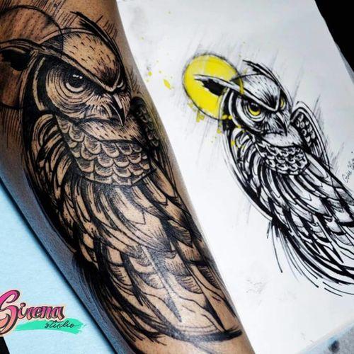 #owltattoo #sketchstyle
