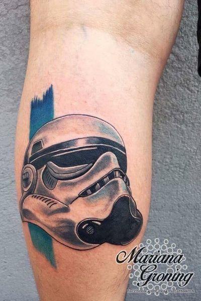 Stormtrooper tattoo. #tattoooftheday #starwarstattoo #starwars #stormtrooper