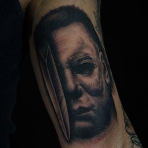 Michael Myers. #blackandgrey #blackandgreytattoo #realistic #michaelmyers #halloween