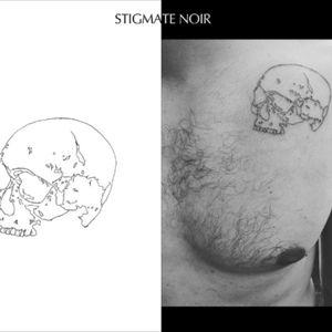 #skull #lines #stigmatenoir #thineline #linealwork #engraved #gravure #tetedemort #death #anatomy #cabinetdecuriosites #frenchartist #frenchtattooist #tatouage #paristattoo #paristatouage #paris
