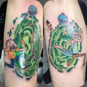 Fun rick and morty tattoo