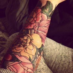 My Floral half sleeve by marcos chang at heart of gold it salt lake ciry utah