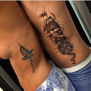 #jeantattooart #couplestattoos #ships #boat