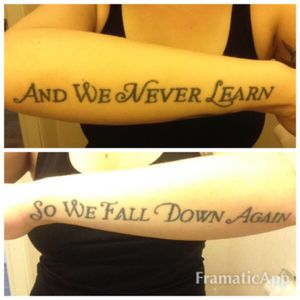 #Evanescence #Oceans #lyrictattoo #girlswithtattoos #girlswithink