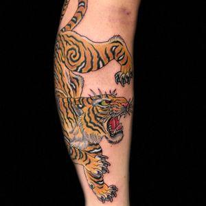Tiger action. @RoyalTattoo #tiger #japanesetattoo #royaltattoodk #royaltattoodenmark #copenhagen
