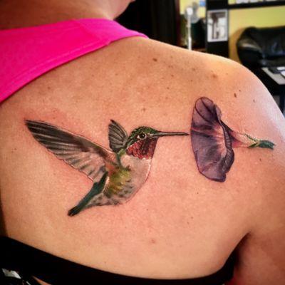 #millsoriginal #jacksonvilletattoocompany #hummingbird #hummingbirdtattoo #colorrealism