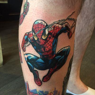 Spiderman #spiderman #spidermantattoo #comic #comicbook #marvel #marveltattoo #SpiderManTattoos #comictattoo #colourtattoo #uktattoo #uktattooartist #uktattooer #tattoo