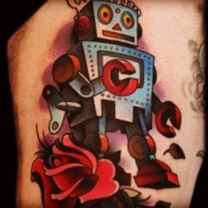 Two little robots for my two little boys 🤖❤️🤖 #megandreamtattoo