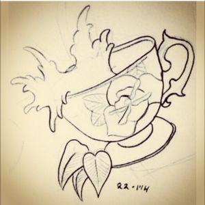 #storminateacup #sketch #teacup #flowers #petals #leaves