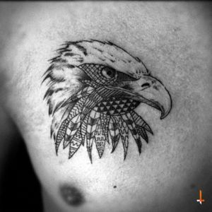 No.67 Mosaic Eagle #tattoo #chestattoo #eagle #mosaic #patterns #bylazlodasilva