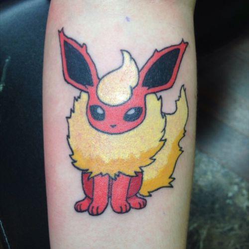 Flareon tattoo #fire #pokemon #eeveelution