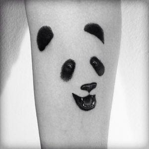 Happy Panda tattoo by Viktor Westberg 🐼#panda #panda #blackwork #viktorwestberg @fleur