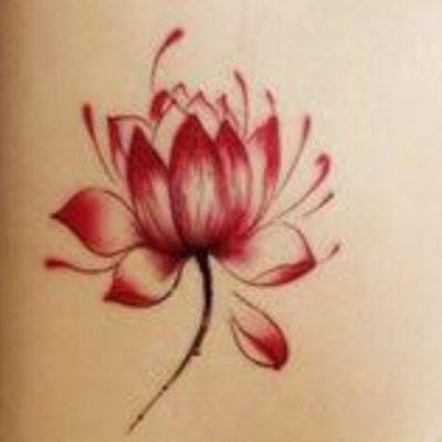 #lotusflower #lotus #lotustattoo #red #flower #welove