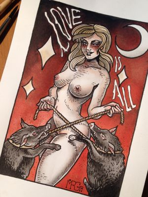 She's one of my favourite.. withe her pigs 🤘🏽🤘🏽#mrg#morg#morgarmeni#tattoo #sexy#erotic#trash