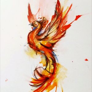 #megandreamtattoo #Phoenix #watercolor