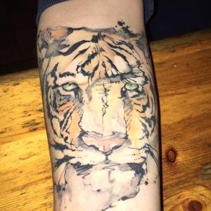 Watercolor tiger #watercolor #tiger #tigertattoo