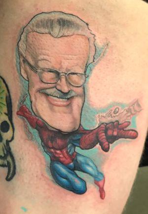 Stan Lee caricature #stanlee #caricature #MarvelTattoo
