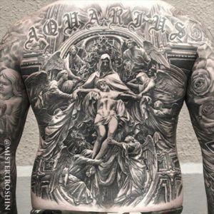 #religioustattoos #amazingtattoos #tattooculture #tattoooftheday #besttattoos #crazytattoos #tattooart #great #tattooflash #tattooedman #blacktattooart #tattooartist #peace #JesusChrist #heaven #supertattoo