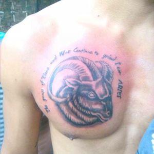 #blackandgraytattoo #tattoo #ariestattoo