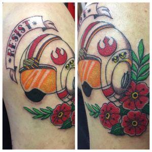 #starwars #rebel #rebelhelmet #rebelalliance #color #traditional #nerdtattoo