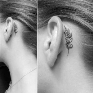 Twig tattoo #tattootwig #aneartattoo #minitattoo #minimalismtattoo #smalltattoo #smaltattoos #tinytattoo #tinytattoos #minimalism #tattoo #tattoogirls #tattoographic #linework #lineworktattoo #Fineline #finelinetattoo #fineLineTattoos #alisovatattoo #AlisaAlisova