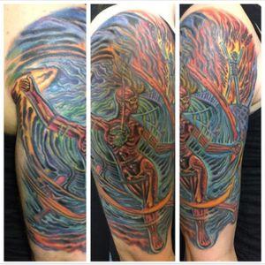 Tattoo by PeeWee Sinerco. #peewee #peeweesinerco #sinerco #westbury #tat #tats #tatts #tatted #tattoo #tattoos #tattedup #tattoist #tattooed #tattoooftheday #usa #inked #inkedup #ink #tattoooftheday #art #amazingink #longisland #larktattoo #larktattoos #larktattoowestbury #bodyart #tattooig #tattoososinstagram #instatats #alexgrey #alexgreytattoo #firedancer #firedancertattoo #color #colorful #colortattoo