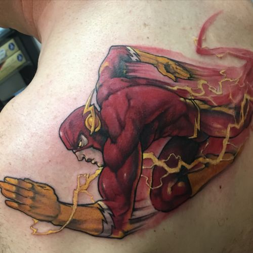 Flash#tattoo #dccomics #ComicBookTattoo #flash #redstreak