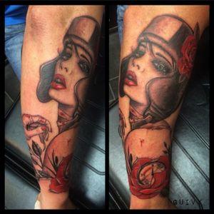 Original design from #BrianViveros #girlgang #boxingirl #guivy #artforsinners #tattoo #tatouage #geneva #geneve #switzerland