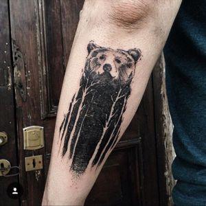 Bear Tattoo Argentina. For bookings New York and Europe: www.danilodelfino.ink.................................. #bear #Beartattoos #blackworktattoo #blackwork #beartattoo #animalhead #oso #tree #treetattoo #texture #IntotheWoods #animalsoul #buenosaires #danilodelfino