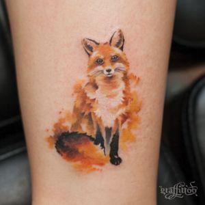 Watercolor fox :)