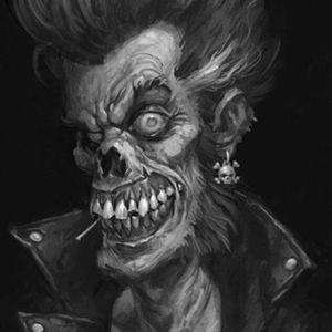 #megandreamtatoo #skull #rockandroll