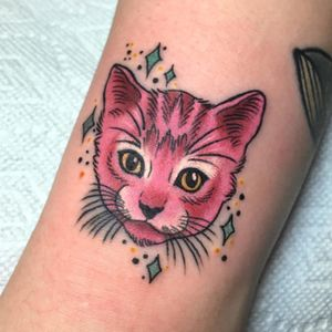 Cool cattoo from a couple of months back #cat #cattoo Remember, only 4 days to go!! Upload your #megandreamtattoo and have the chance to win a trip to NYC and a tattoo by me :)
