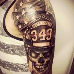 #firefighter #neverforget #skull #american