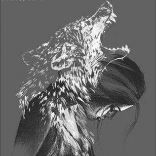 This beautiful spiritual wolf tattoo #wolf #megandreammtattoo #meganamassacre #megandreamcontest 😍
