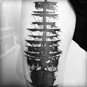 Very cool! #pirate #pirateship #ship #sail #ocean #water #blackwork