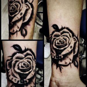 #tattoo #rose #realistic #blackAndWhite #ink