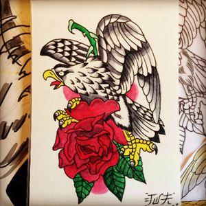 Old school eagle #ink #oldschool #eagle #handdrawn #mysketchbook