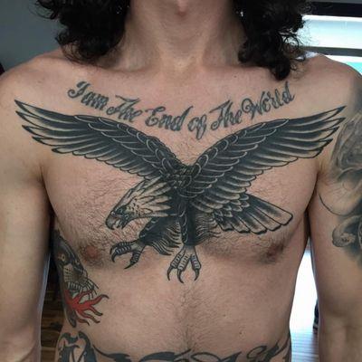#eagle #traditionaltattoo #blackandgrey #ochoplacastattoo #miami #javierbetancourt
