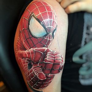 #spiderman #spidermantattoo #realistic #cheyenne #hungary #tattoo