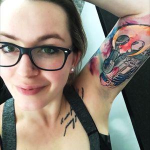 New Tatt on arm #starwars #r2d2 #watercolorart #arm