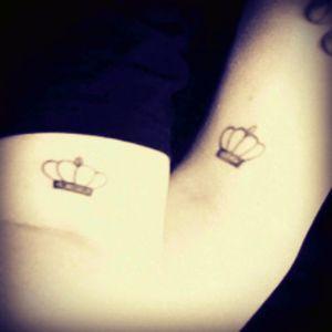 Crown tattoo #lgbt #couplestattoo