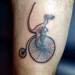 Raptor in bicycle