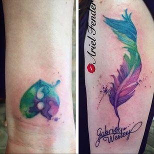 #watercolortattoo #watercolorartist #watercolorfeather #SemicolonProject