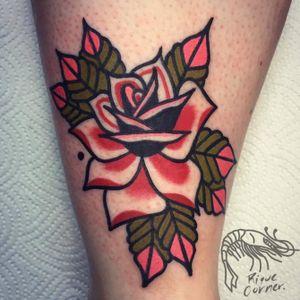#rose #traditional #riquecorner #tattooartist